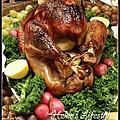 烤多汁鮮嫩的火雞