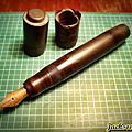 日本老筆 14K  軟尖 滴入式上墨 筆蓋製作