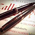 寫樂21K 玫瑰金鋼筆 德國藍黑硬橡膠 負壓式上墨