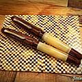 中號 牛角魚雷 紅木硬橡膠