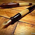 3776 14K 五號平頂 牛角手做筆