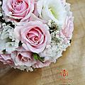玫瑰遇見蝴蝶蘭捧花