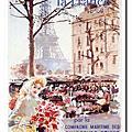 我的旅遊明信片-法國觀光海報