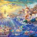 Thomas Kinkade Disney Art work