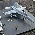 F-18C Hornet & Nimitz deck diorama
