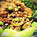 剩菜七十二變:孜然雞肉炒五穀米飯