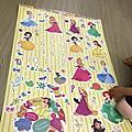 itaste 迪士尼可愛公主時鐘壁貼