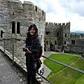 在英國愛上,紅。 (Caernarfon Castle卡那芬堡,英國)