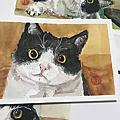 【手繪水彩】水彩賓士貓