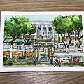 【手繪水彩】新北市圖書館-瑞芳分館