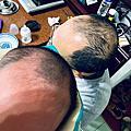 【育兒有趣】滿月過後兒子理不停的頭髮^_^