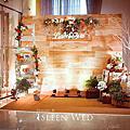 【婚禮佈置】橘綠-橙色木屋-新店京采飯店