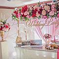 【婚禮佈置】粉桃色系-蜜糖花園Honey Garden-台北福華大飯店