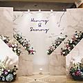 【婚禮佈置】藍白色系-花之谷-古華花園飯店