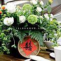 【婚禮佈置】白綠黃色系-台灣小吃-台北青青草原