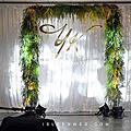 【婚禮佈置】白綠色系-優雅清新-板橋活動中心