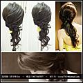 新娘秘書髮妝造型教學~側邊編髮造型