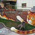 [雲林景點] 虎尾頂溪社區「屋頂上的貓」貓彩繪村