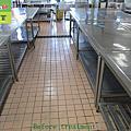323-restaurant kitchen - tile floor - non-slip construction - photo
