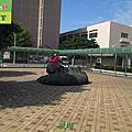 519-工廠戶外廣場小磁磚地面止滑防滑工程施工前