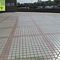 327-Factory - Outdoor plaza - Tile Floors - Before Anti-Slip Treatment