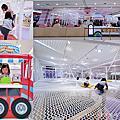 新北室內遊樂園 ☺ 中和 Kid's建築樂園 - 夢想城體驗館~球池、攀爬網、滑步車、彈跳床, 孩子消耗電力爸媽心歡喜