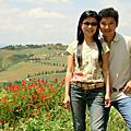 2008,  6月10th, 義大利, Toscana, 美麗的Monticchiello, 美食餐廳朝聖@Osteria La Porta, & 經典絲柏之路@La Foce!!