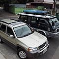 露營戰車與休旅車
