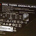 華碩已上市會呼吸白金電源ROG THOR 1200W
