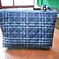 陶姐的鋪棉藍格包