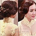 韓式時尚復古個性~容結婚造型