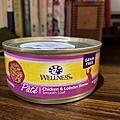 WELLNESS貓罐-全方位系列肉醬雞肉+龍蝦