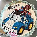 《亞洲系列手繪卡通蛋糕》