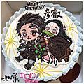 《東洋卡通系列手繪蛋糕》