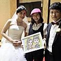 [活動]1001_新莊新農園婚禮現場似顏繪