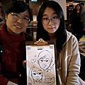 [活動]0128新竹喜來登_婚禮畫家現場賓客Q版漫畫