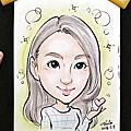 [活動]0509文華東方Fabiana Filippi專櫃_VIP現場人像漫畫