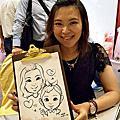 [活動]婚禮現場人像漫畫_龍潭渴望會館 婚禮畫家