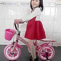 12吋 熊貓 兒童腳踏車 (藍/粉紅色)