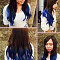 台中造型師*MIYA*藍色泡沫