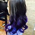 台中造型師*Miya*美人魚髮~紫色篇
