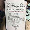 Château de Lavagnac La Grande Dame de 2012