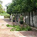 莫拉克颱風校園整理