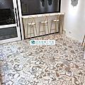 超耐磨小方塊花磚塑膠地板(WJ1-01 3.0mm四邊導角)