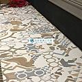 2018/3/19光復南路餐廳花磚塑膠地板作品(RADY品牌 DJ1-01微導角花磚)