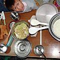 自煮咖哩飯+奶油炒櫻花蝦高麗菜