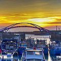 2013永安漁港日落彩虹橋夜景