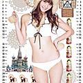 佐佐木希2010月曆桌布