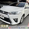 2017年 Toyota Yaris 1.5 白 一手車、升級大螢幕