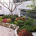 綠花園.住家庭園設計.陽台;車庫